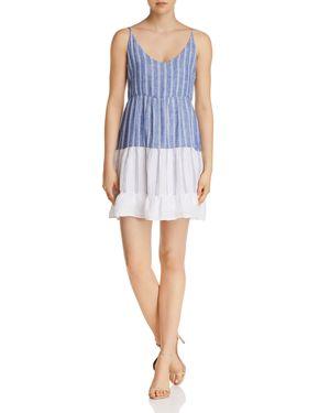 Mattie Striped Dress, Mixed Blue