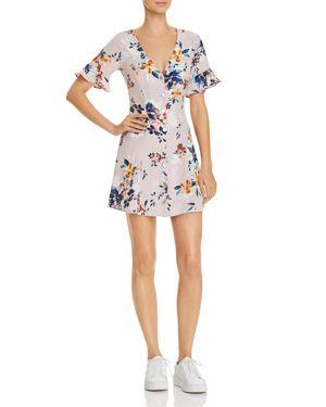 SADIE & SAGE FLORAL BUTTON-DOWN A-LINE DRESS - 100% EXCLUSIVE