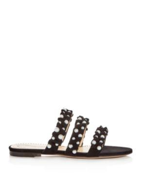 Charlotte Olympia Women's Celina Pearl Embellished Slide Sandals g94es4