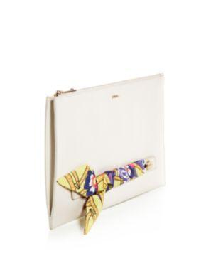 Furla Babylon Embellished Leather Zip Clutch Shopping Online High Quality KqBuaT2fSY