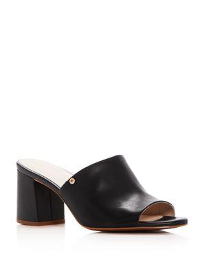 Cole Haan Women's Daina Leather High Block Heel Slide Sandals 2904583