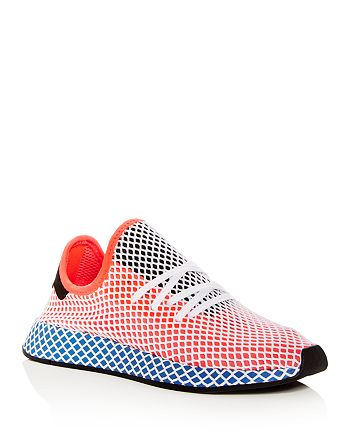 brand new 3631a 3440a Adidas - Mens Deerupt Runner Net Lace Up Sneakers