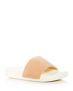 Brandblack  MEN'S KASHIBA LUXE LEATHER SLIDE SANDALS