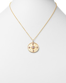 Kiki McDonough - 18K Yellow Gold Jemima Amethyst & Diamond Pendant Necklace, 16""