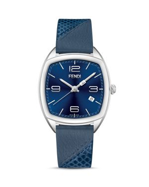 MOMENTO LEATHER STRAP WATCH, 39MM