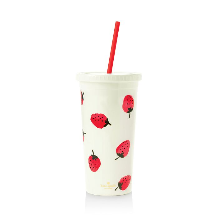 kate spade new york - Strawberries Tumbler with Straw
