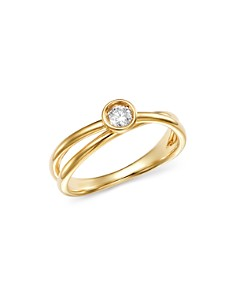 Bloomingdale's - Diamond Bezel Crossover Ring in 14K Yellow Gold, 0.10 ct. t.w. - 100% Exclusive