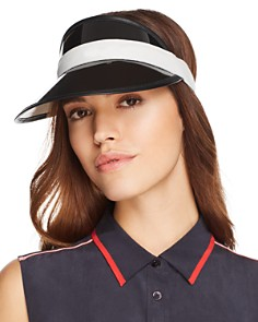 rag & bone - Vegas Leather-Trim Visor