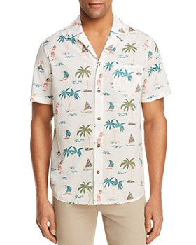 4fa19c48 Banks Journal - Hula Short Sleeve Button-Down Shirt - 100% Exclusive ...