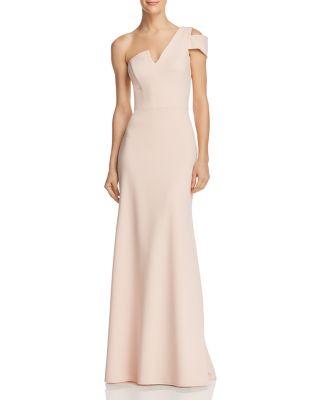 $AQUA One-Shoulder Ruffled Gown - 100% Exclusive - Bloomingdale's