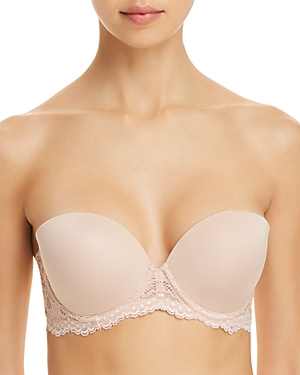4d4717b2a9 On Gossamer Beautifully Basic Strapless Underwire Bra In Champagne ...