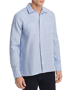 Oobe Linen Camp Button-Down Shirt