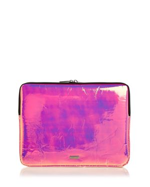 SKINNYDIP LONDON Holographic Laptop Case in Pink Hologram/Silver