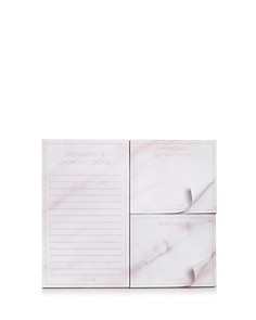 Skinnydip London Pink Marble Print Sticky Notes - Bloomingdale's_0