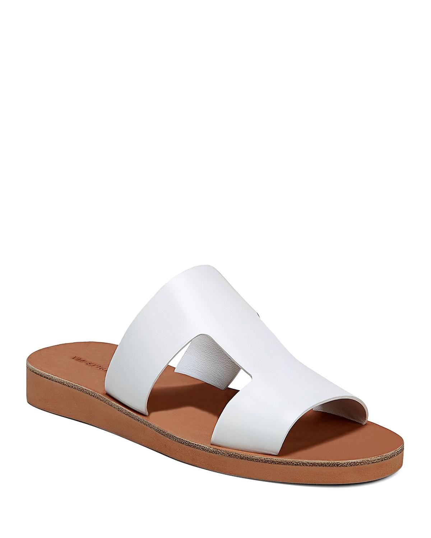 Via Spiga Women's Blanka Leather Slide Sandals 6Aw8aGk