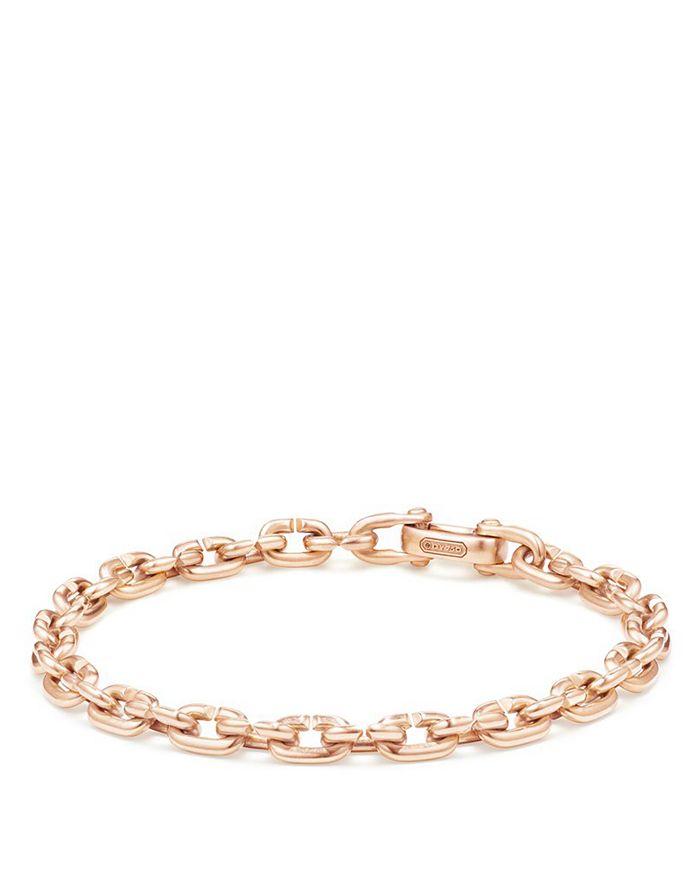David Yurman - Chain Link Narrow Bracelet in 18K Rose Gold