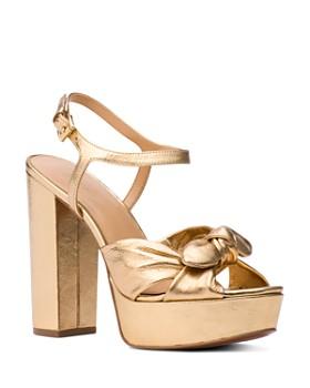 MICHAEL Michael Kors - Women's Pippa Leather Platform High-Heel Sandals