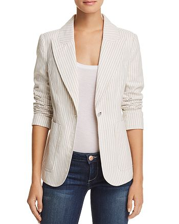 AQUA - Striped One-Button Blazer - 100% Exclusive