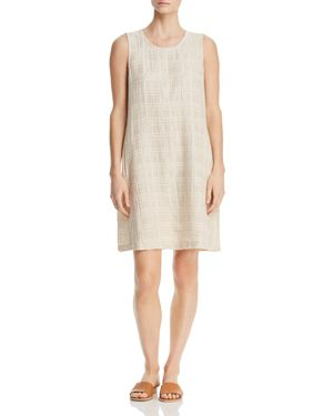 Eileen Fisher Petites Crinkle-Texture Shift Dress 2908649