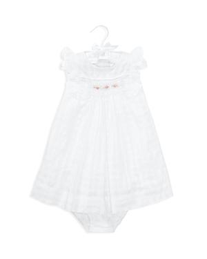 Ralph Lauren Girls Embroidered Windowpane Dress  Bloomers Set  Baby