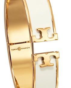 Tory Burch - Hinged Logo Enamel Bangle Bracelet