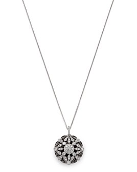 Bloomingdale's - Bloomingdale's Floral Diamond Pendant Necklace in 14 Kt. White Gold - 100% Exclusive
