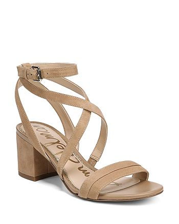 8dbe0e6365db Sam Edelman Women s Sammy Suede Strappy Block Heel Sandals ...