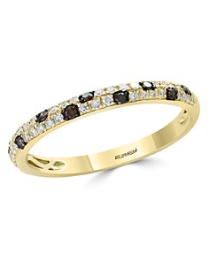 Bloomingdale's - White & Brown Diamond Stacking Ring in 14K Yellow Gold - 100% Exclusive