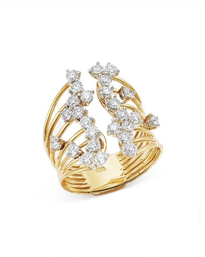 Bloomingdale's - Diamond Spray Open Statement Ring in 14K Yellow Gold, 1.40 ct. t.w. - 100% Exclusive