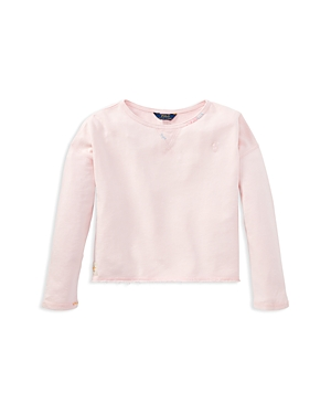 Polo Ralph Lauren Girls French Terry Sweatshirt  Big Kid