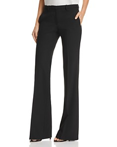Theory - Demitria Good Wool Flared Pants