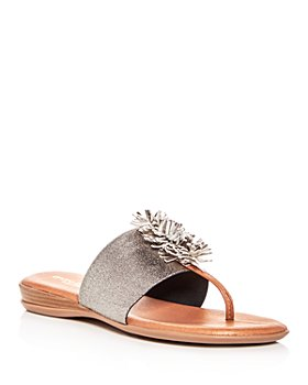 Andre Assous - Women's Novalee Leather Fringe Demi Wedge Sandals
