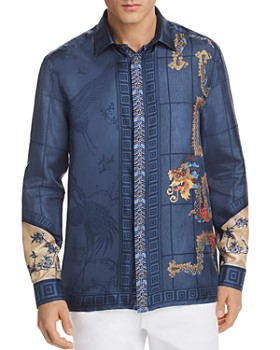 Versace Collection - Silk Woven Button-Down Shirt