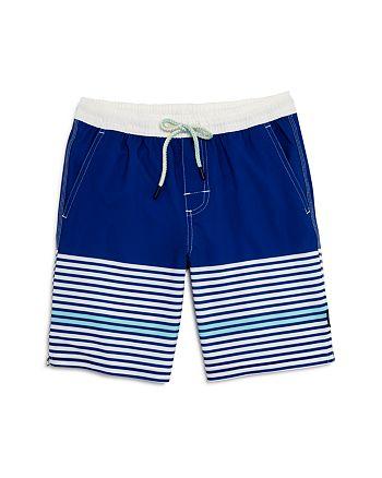 Johnnie-O - Boys' Contrast-Stripe Swim Trunks - Big Kid