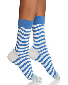 Happy Socks Wavy Stripe Crew Socks - Bloomingdale's_0