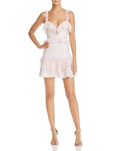 For Love & Lemons - Dixie Ruffled Gingham Dress