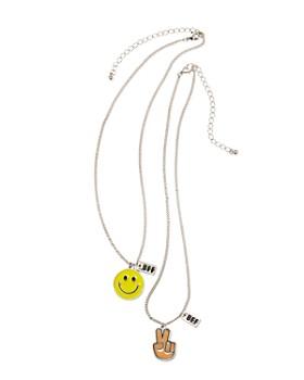 Capelli - Girls' BFF Emoji Necklaces, Set of 2
