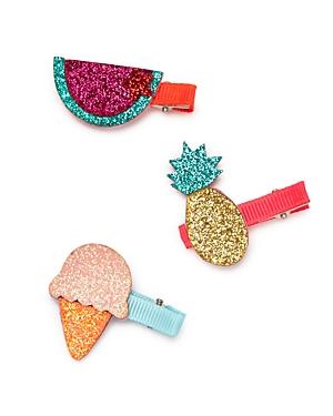 Capelli Girls Glitter Fruit Clips Set of 3