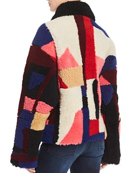 McQ Alexander McQueen - Patchwork Shearling Coat