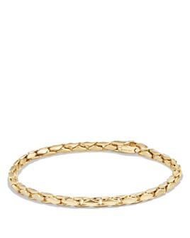 David Yurman - Small Fluted Chain Bracelet in 18K Gold