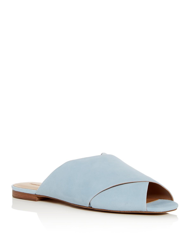 Rebecca Minkoff Women's Anden Suede Crisscross Slide Sandals kNT8QZm1