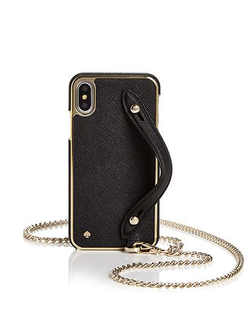 kate spade new york - iPhone X Crossbody with Hand Strap