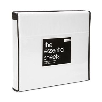 Bloomingdale's Essentials - 400TC Wrinkle Free Sheet Set, Twin - 100% Exclusive
