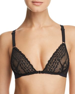 HEIDI KLUM INTIMATES Delilah Dances Sheer Lace Demi Underwire Bra in Black