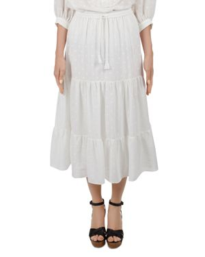 Arlene Embroidered Skirt in Ecru