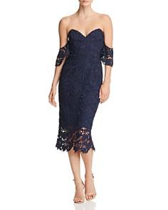 SAU LEE - Ella Off-the-Shoulder Lace Dress