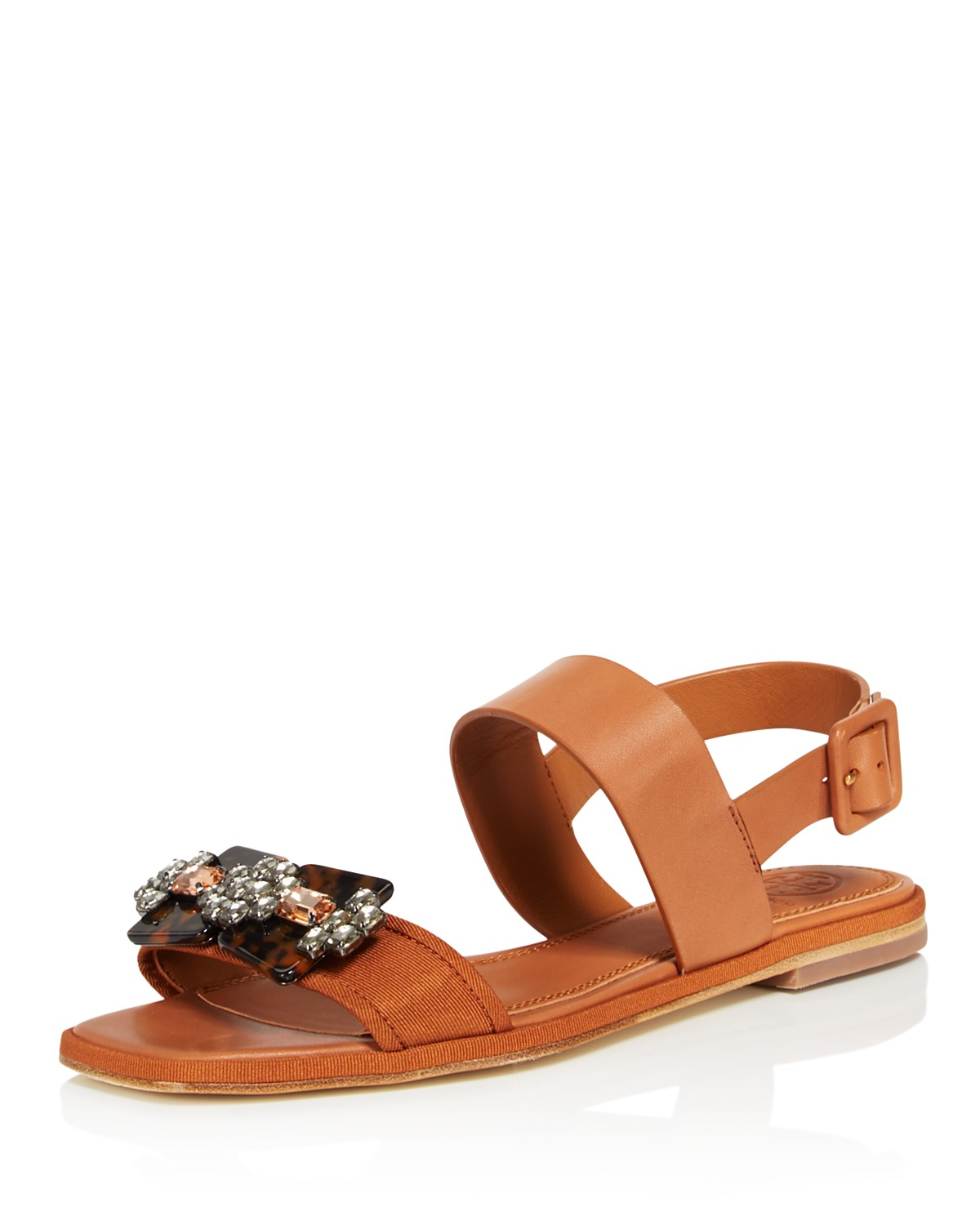 Tory Burch Women's Delaney Embellished Leather Sandals MyKw4