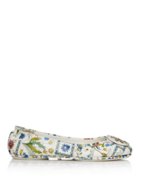 Tory Burch Minnie Ivory Meadow Folly Travel Ballet Flats