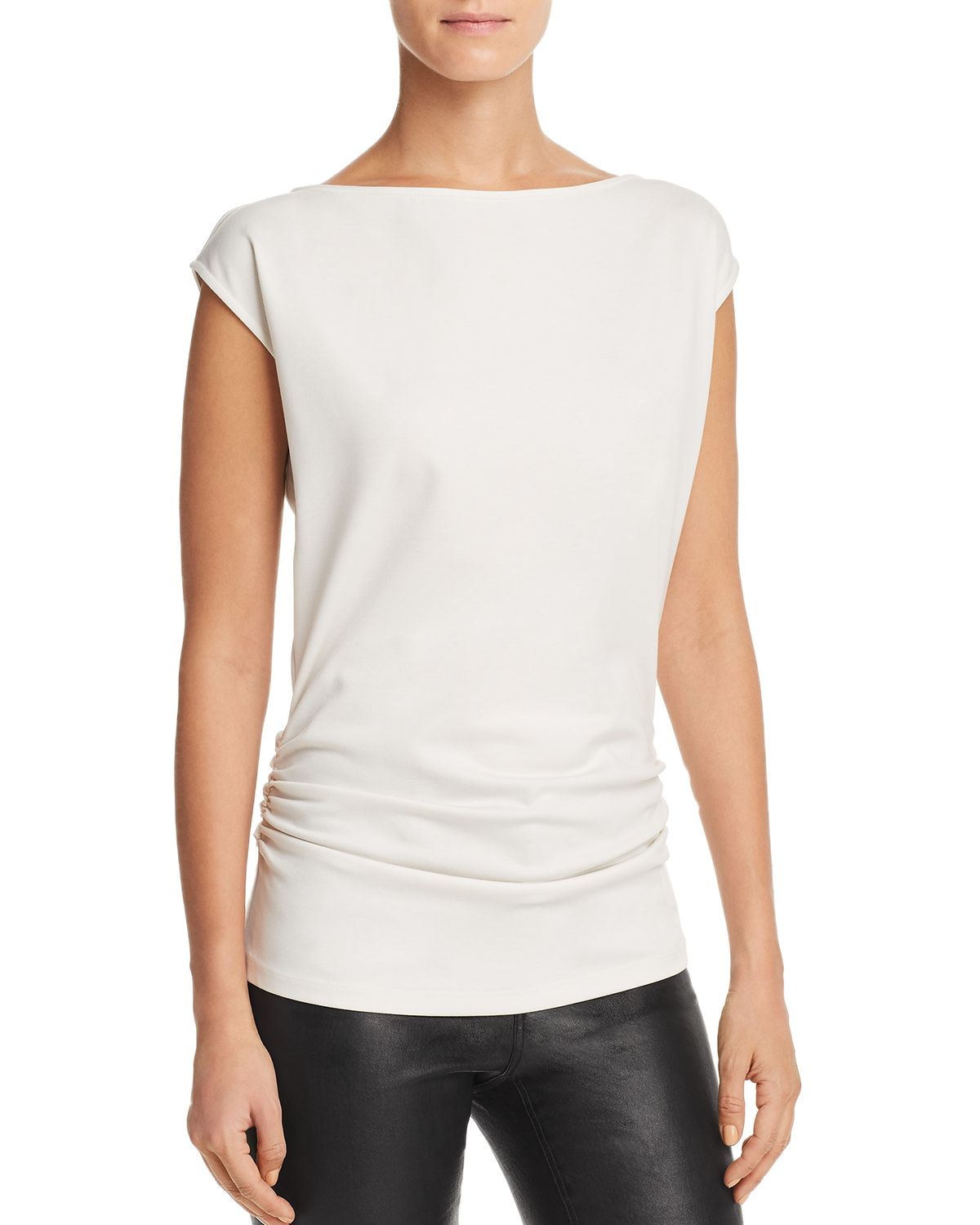 Ruched Cap Sleeve Top by Theory
