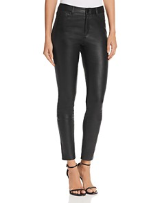 Theory Bristol Skinny Leather Pants - Bloomingdale's_0